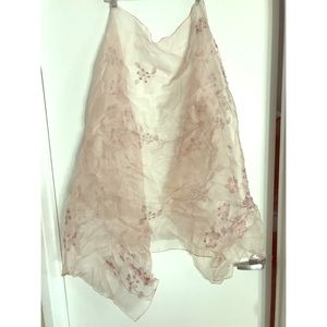Accessories - Chiffon Decorated Scarf - Pink